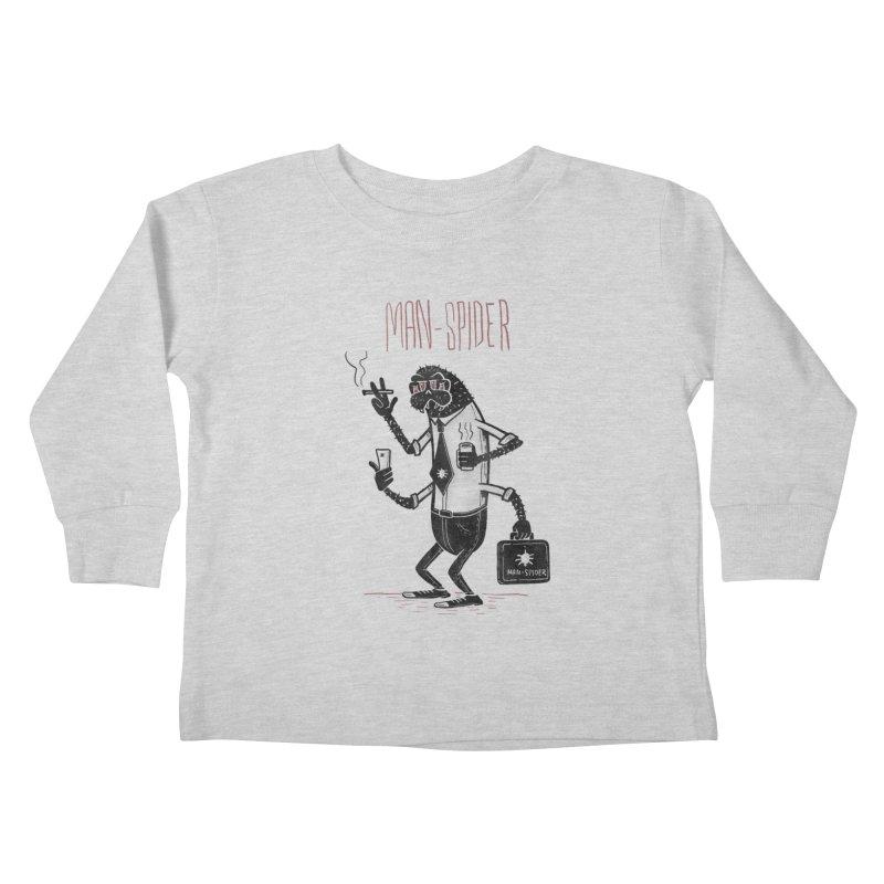 MAN - SPIDER Kids Toddler Longsleeve T-Shirt by YiannZ's Artist Shop