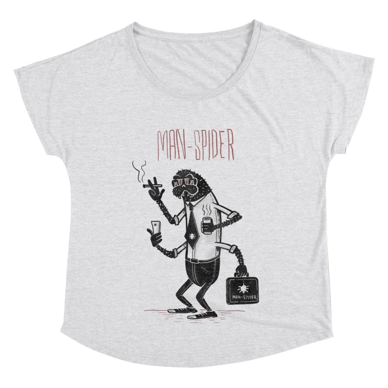 MAN - SPIDER Women's Scoop Neck by YiannZ's Artist Shop