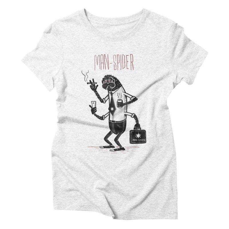 MAN - SPIDER Women's Triblend T-shirt by YiannZ's Artist Shop