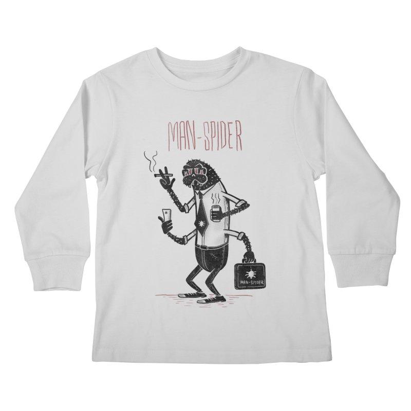 MAN - SPIDER Kids Longsleeve T-Shirt by YiannZ's Artist Shop