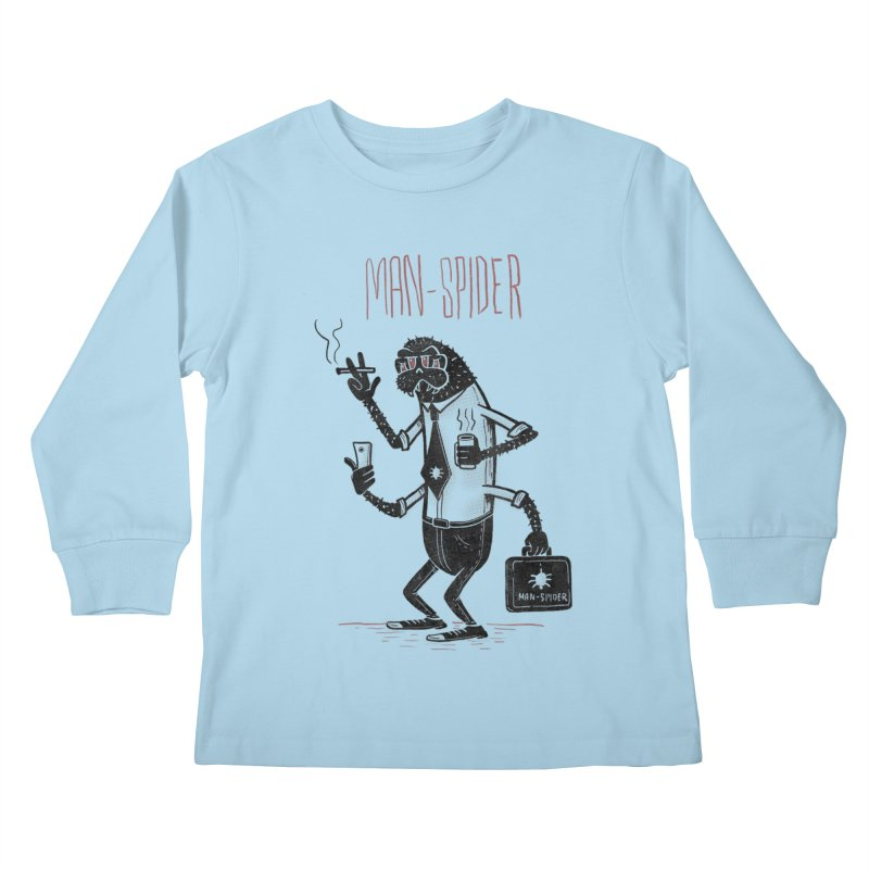 MAN - SPIDER Kids Longsleeve T-Shirt by YiannZ's Artist Shop