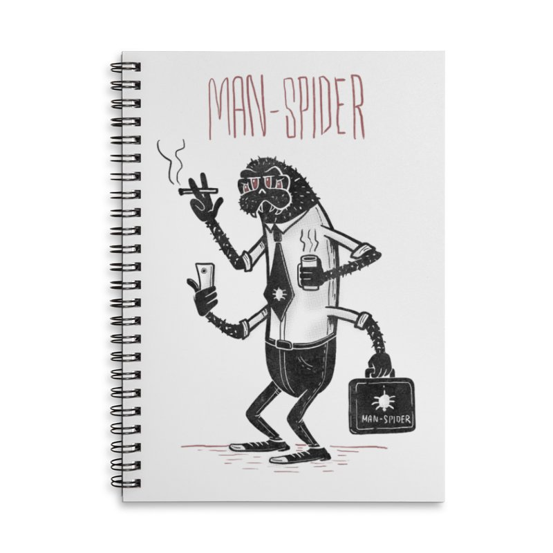 MAN - SPIDER Accessories Lined Spiral Notebook by YiannZ's Artist Shop