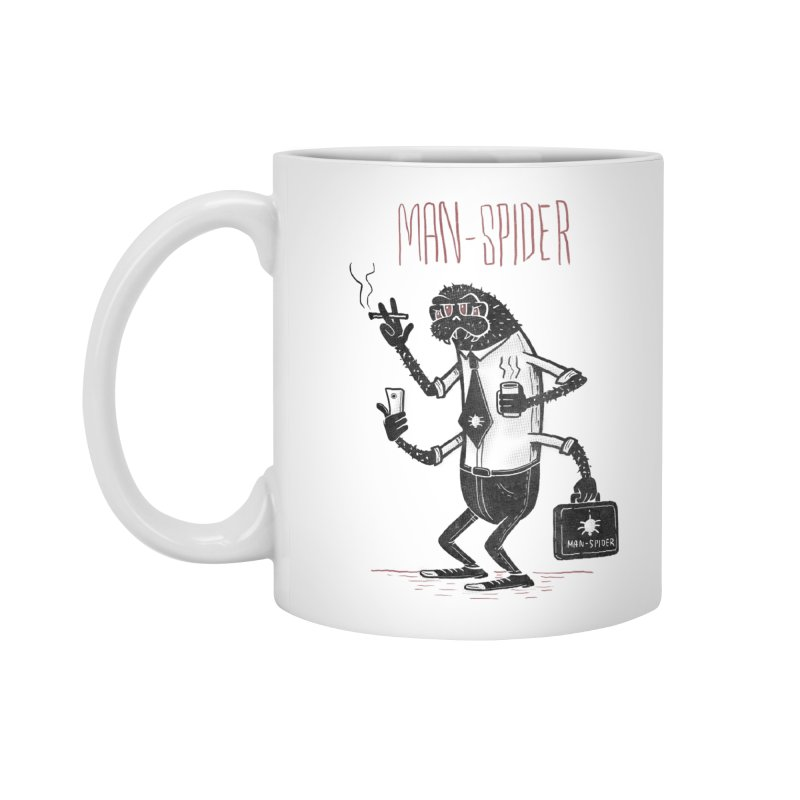 MAN - SPIDER Accessories Standard Mug by YiannZ's Artist Shop