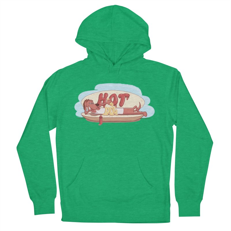 HOT-DOG Men's French Terry Pullover Hoody by YiannZ's Artist Shop