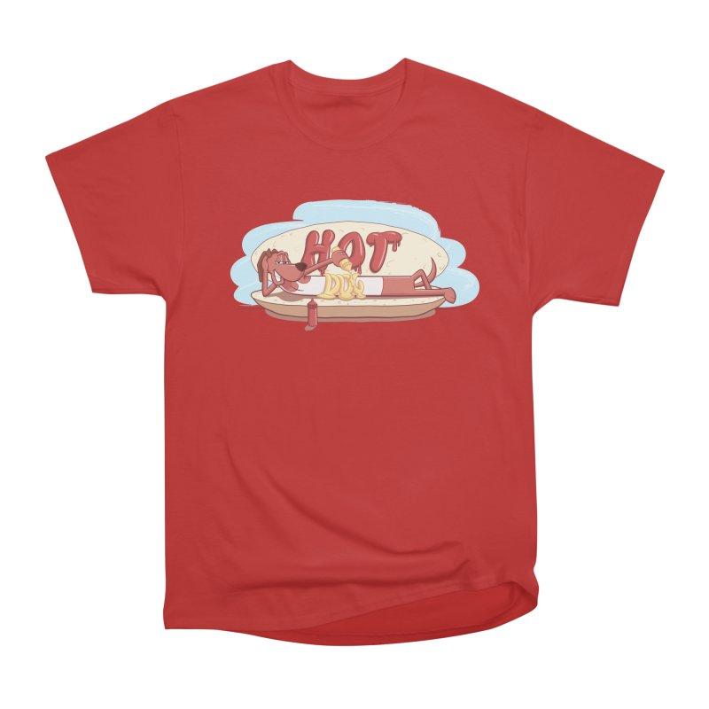 HOT-DOG Men's Heavyweight T-Shirt by YiannZ's Artist Shop