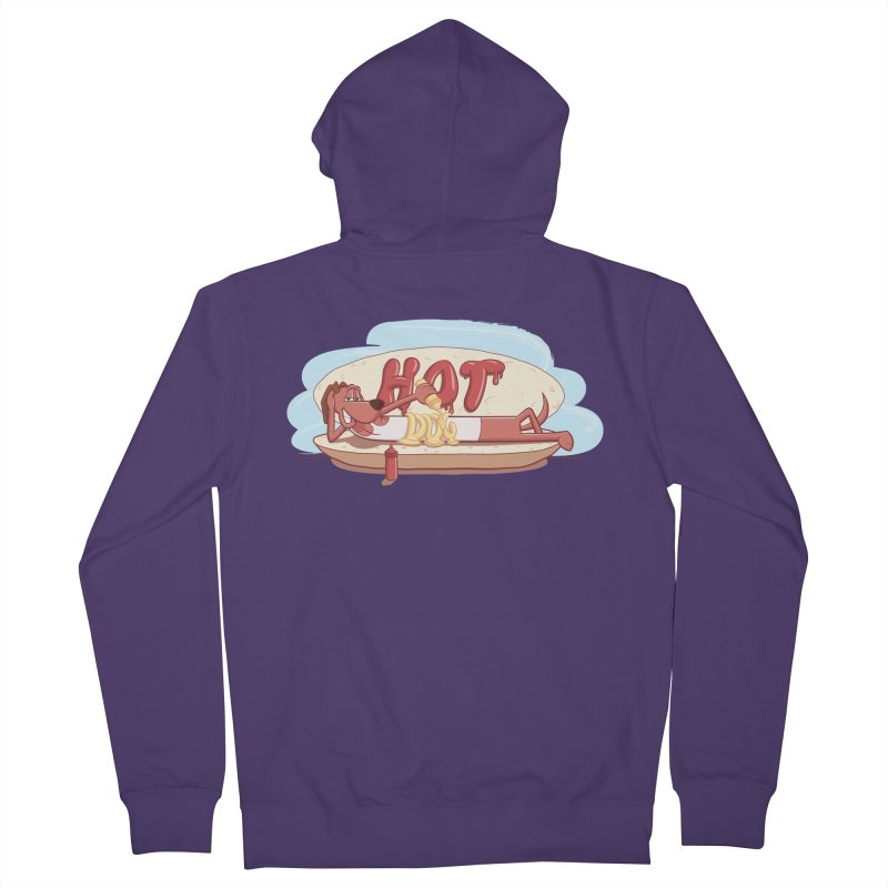 HOT-DOG Women's French Terry Zip-Up Hoody by YiannZ's Artist Shop