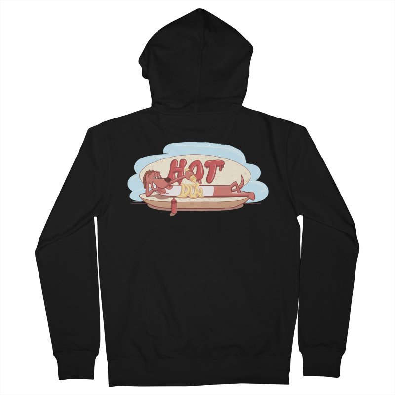 HOT-DOG Men's French Terry Zip-Up Hoody by YiannZ's Artist Shop