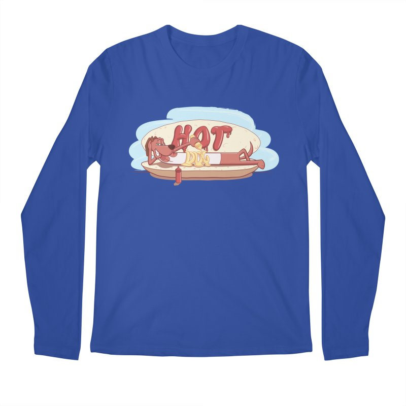 HOT-DOG Men's Regular Longsleeve T-Shirt by YiannZ's Artist Shop