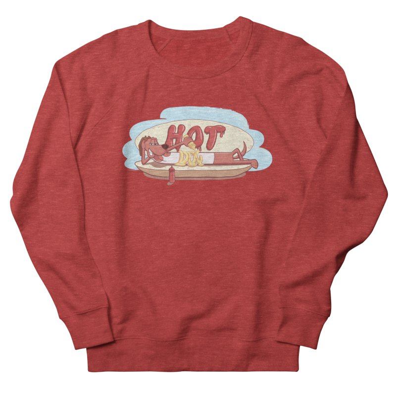 HOT-DOG Men's French Terry Sweatshirt by YiannZ's Artist Shop