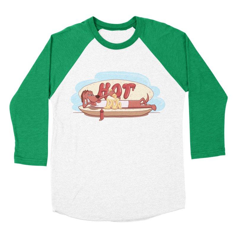 HOT-DOG Women's Baseball Triblend T-Shirt by YiannZ's Artist Shop