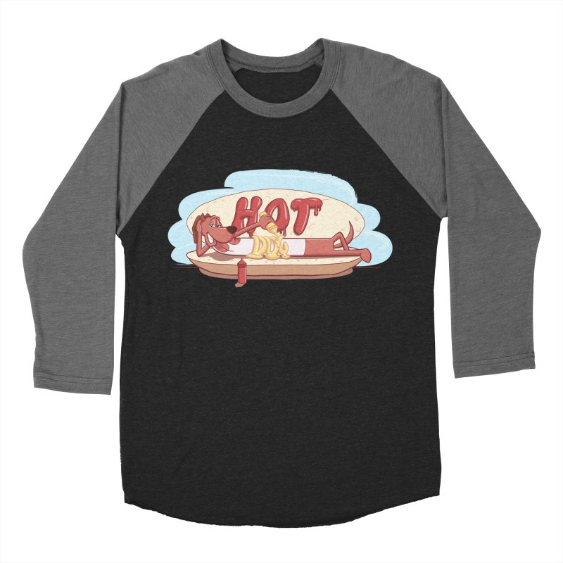 HOT-DOG Women's Baseball Triblend Longsleeve T-Shirt by YiannZ's Artist Shop
