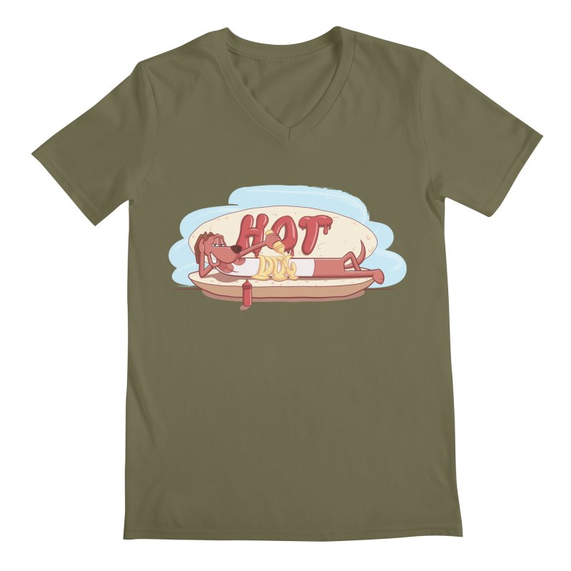 HOT-DOG Men's V-Neck by YiannZ's Artist Shop