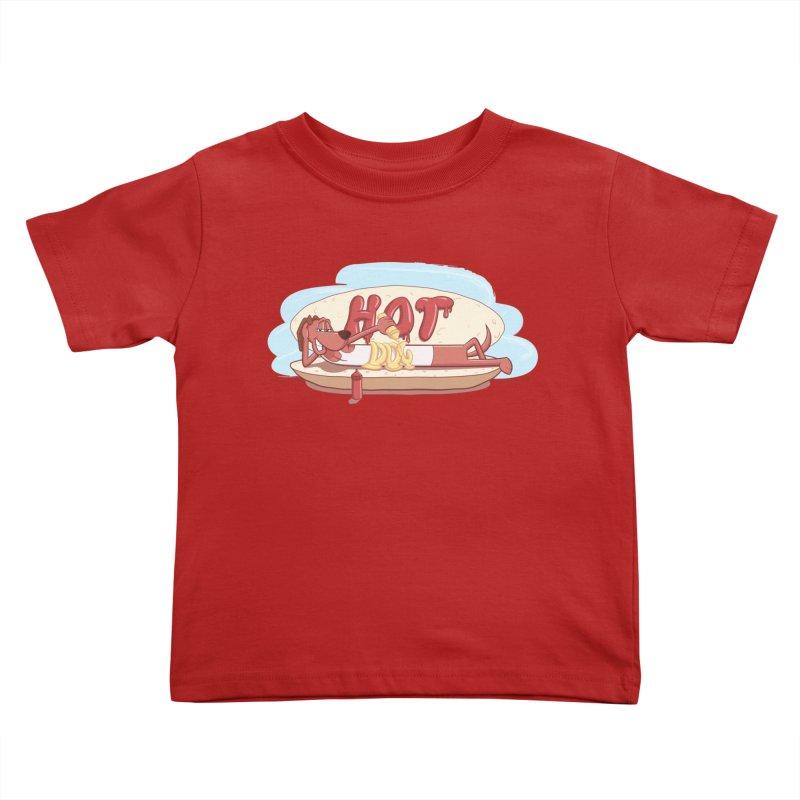 HOT-DOG Kids Toddler T-Shirt by YiannZ's Artist Shop