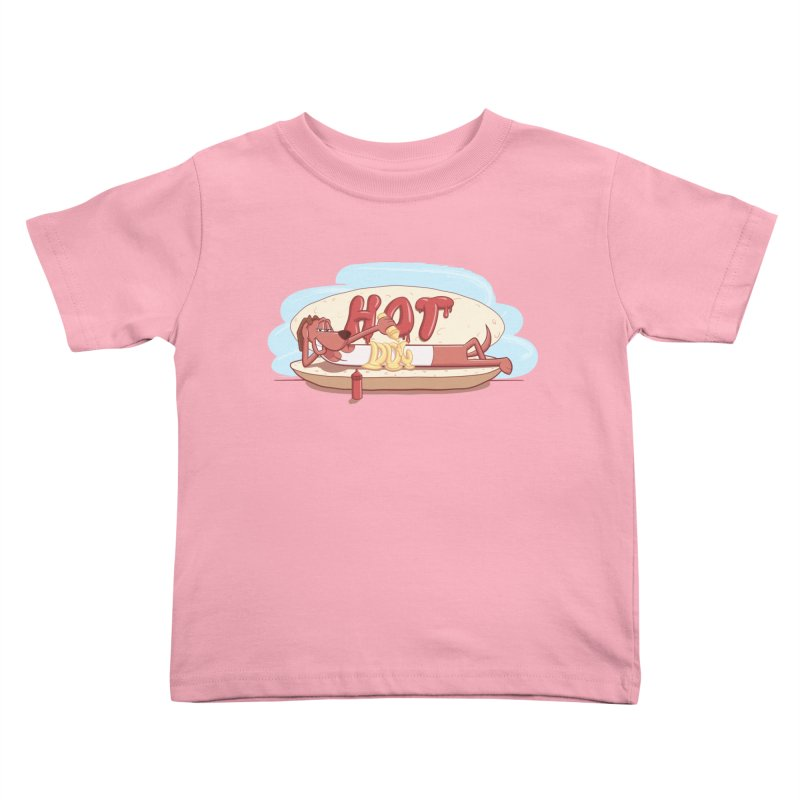 HOT-DOG Kids Toddler T-Shirt by YiannZ's Artist Shop