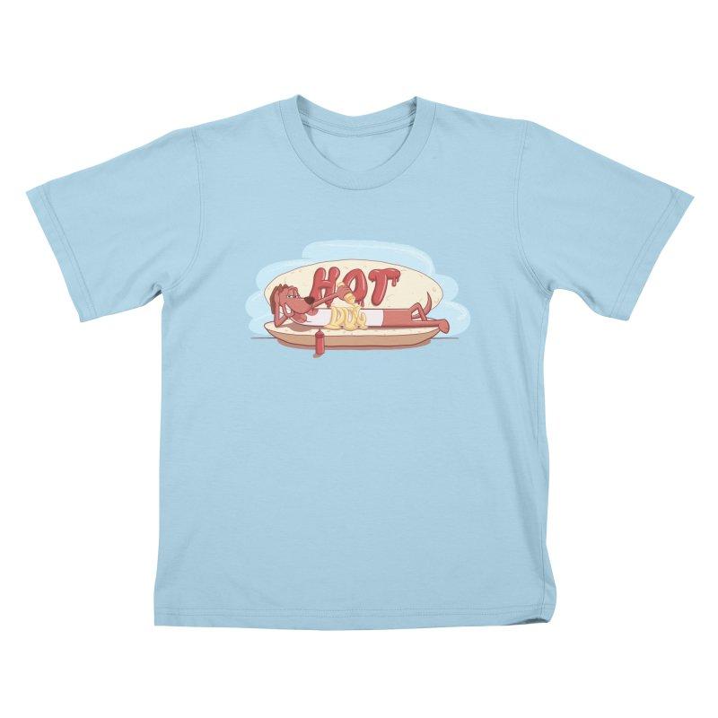 HOT-DOG Kids T-Shirt by YiannZ's Artist Shop