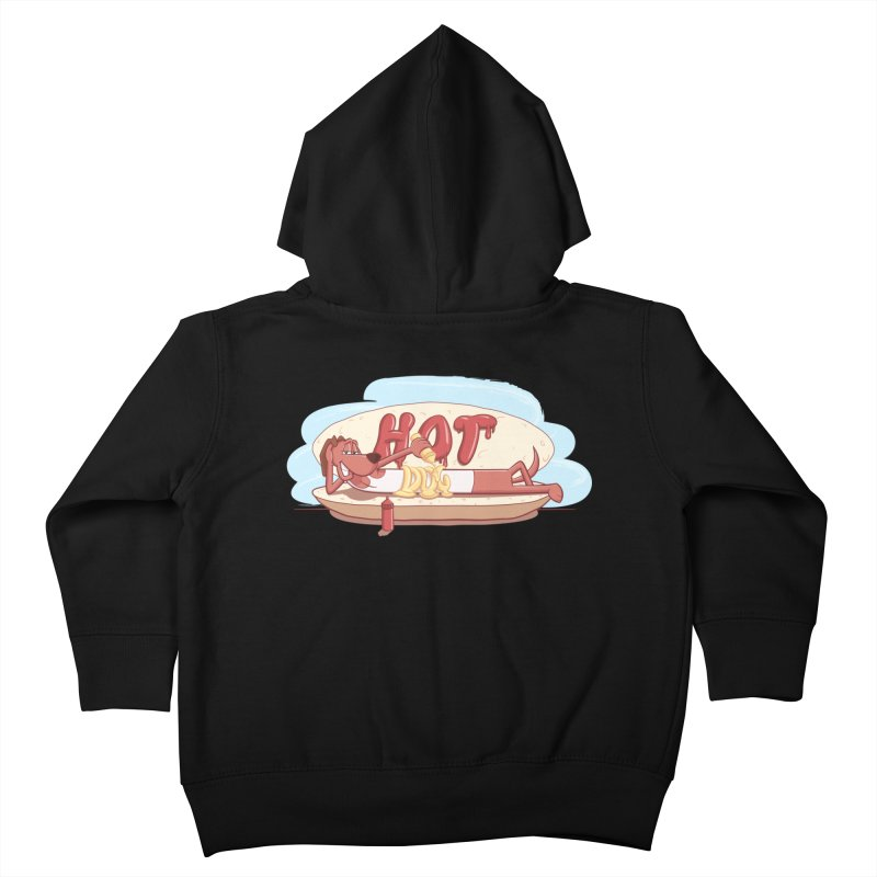 HOT-DOG Kids Toddler Zip-Up Hoody by YiannZ's Artist Shop