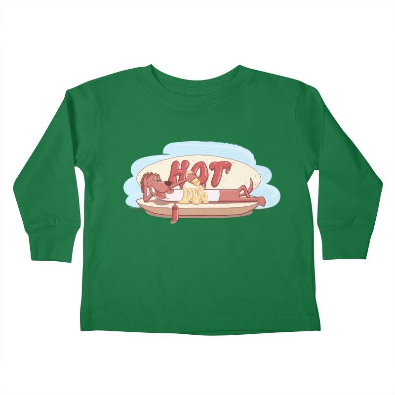 HOT-DOG Kids Toddler Longsleeve T-Shirt by YiannZ's Artist Shop