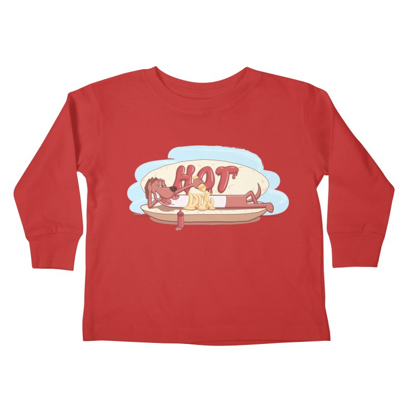 HOT-DOG Kids Toddler Longsleeve T-Shirt by YiannZ's Artist Shop