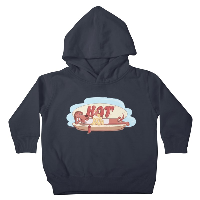 HOT-DOG Kids Toddler Pullover Hoody by YiannZ's Artist Shop