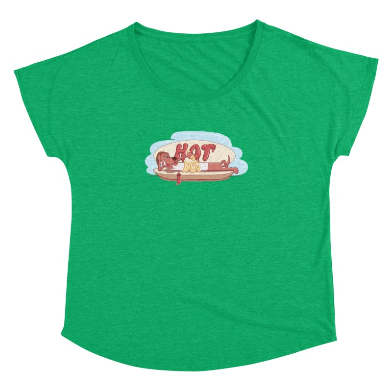 HOT-DOG Women's Dolman Scoop Neck by YiannZ's Artist Shop