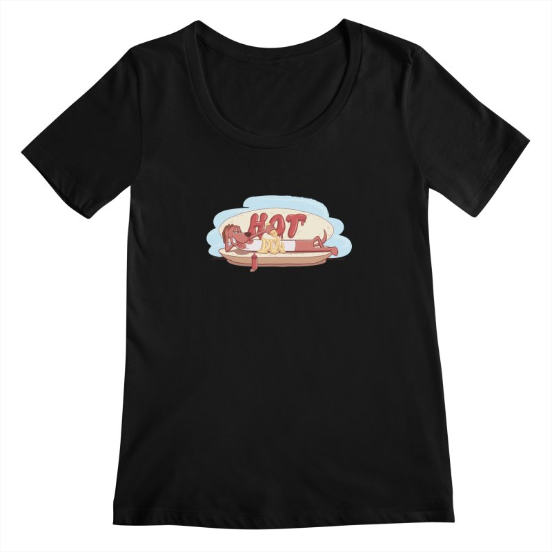 HOT-DOG Women's Scoopneck by YiannZ's Artist Shop