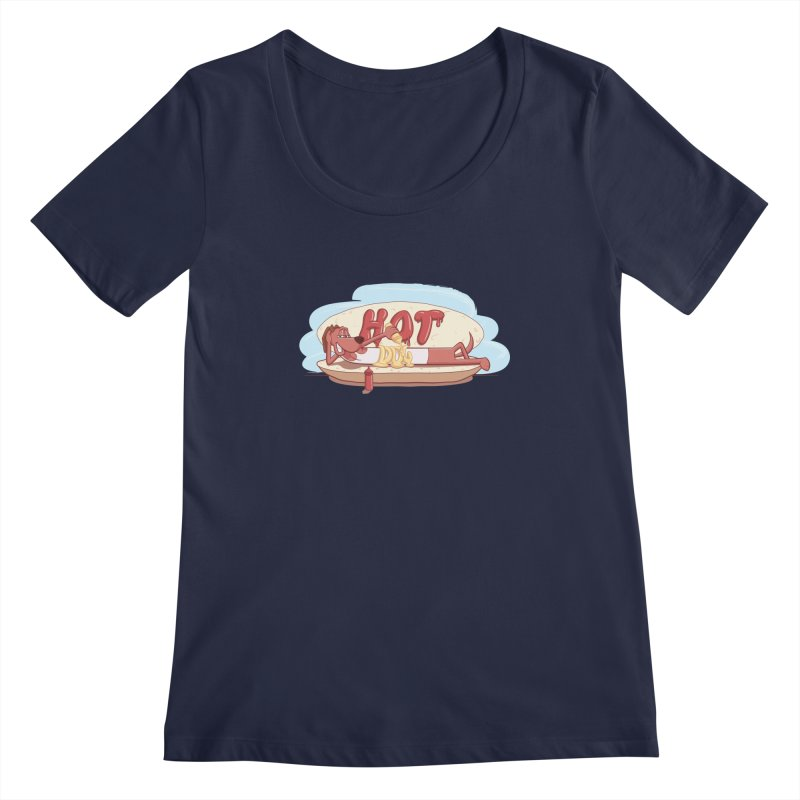 HOT-DOG Women's Regular Scoop Neck by YiannZ's Artist Shop