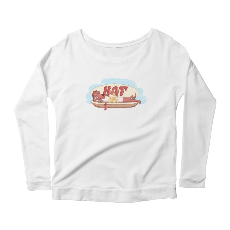 HOT-DOG Women's Scoop Neck Longsleeve T-Shirt by YiannZ's Artist Shop