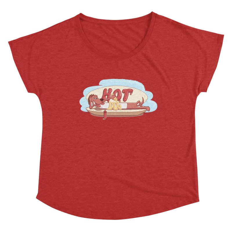 HOT-DOG Women's Scoop Neck by YiannZ's Artist Shop