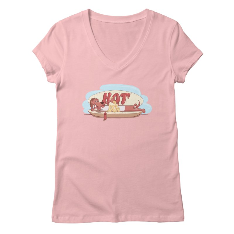 HOT-DOG Women's V-Neck by YiannZ's Artist Shop