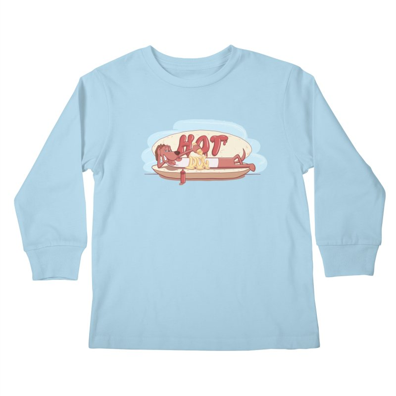 HOT-DOG Kids Longsleeve T-Shirt by YiannZ's Artist Shop