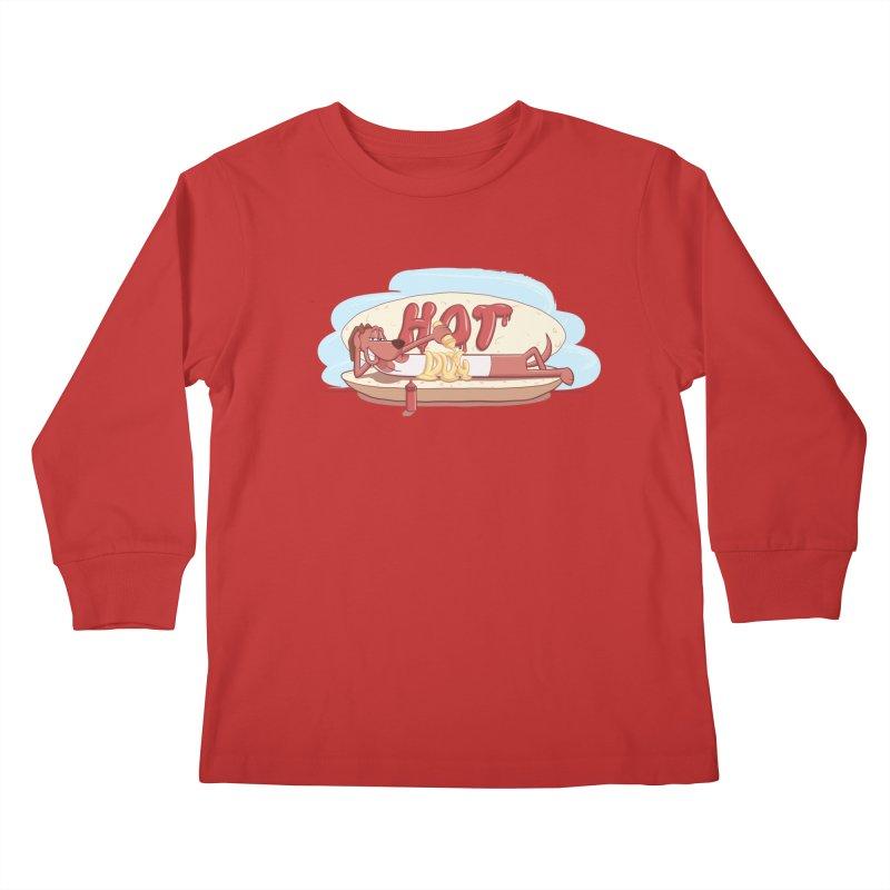 HOT-DOG Kids Longsleeve T-Shirt by YiannZ's Artist Shop
