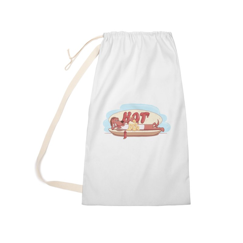 HOT-DOG Accessories Laundry Bag Bag by YiannZ's Artist Shop