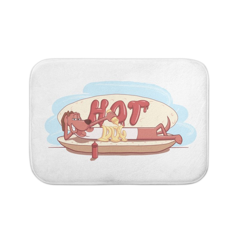 HOT-DOG Home Bath Mat by YiannZ's Artist Shop