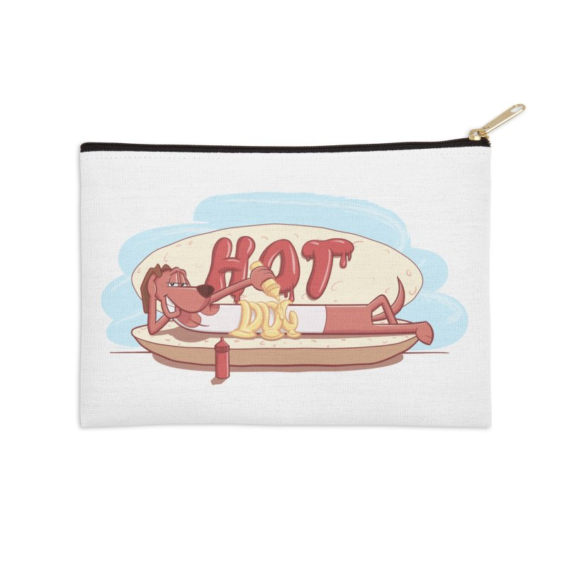 HOT-DOG Accessories Zip Pouch by YiannZ's Artist Shop