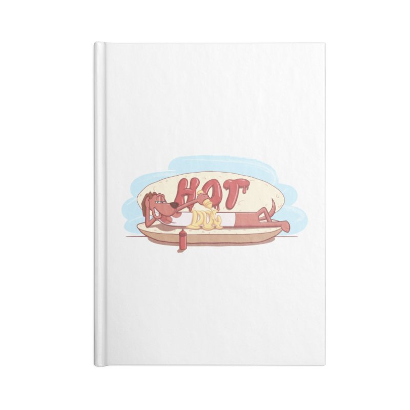 HOT-DOG Accessories Blank Journal Notebook by YiannZ's Artist Shop