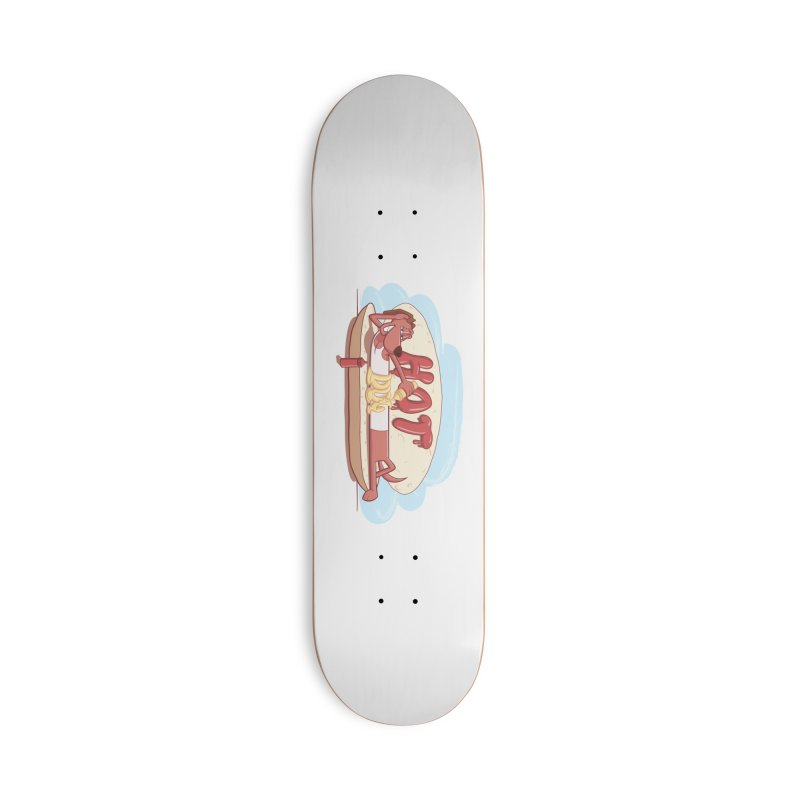 HOT-DOG Accessories Deck Only Skateboard by YiannZ's Artist Shop