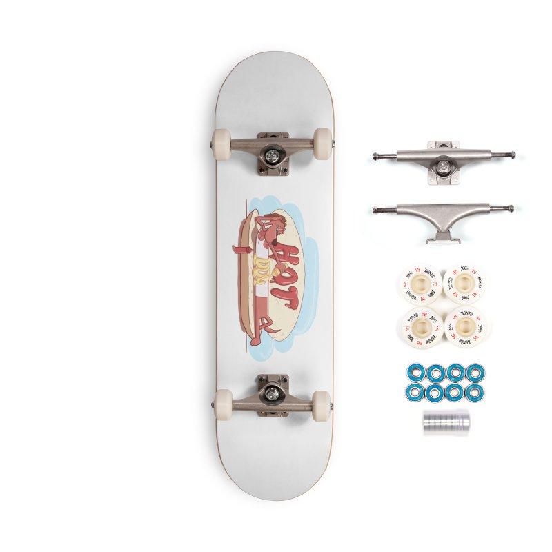 HOT-DOG Accessories Skateboard by YiannZ's Artist Shop