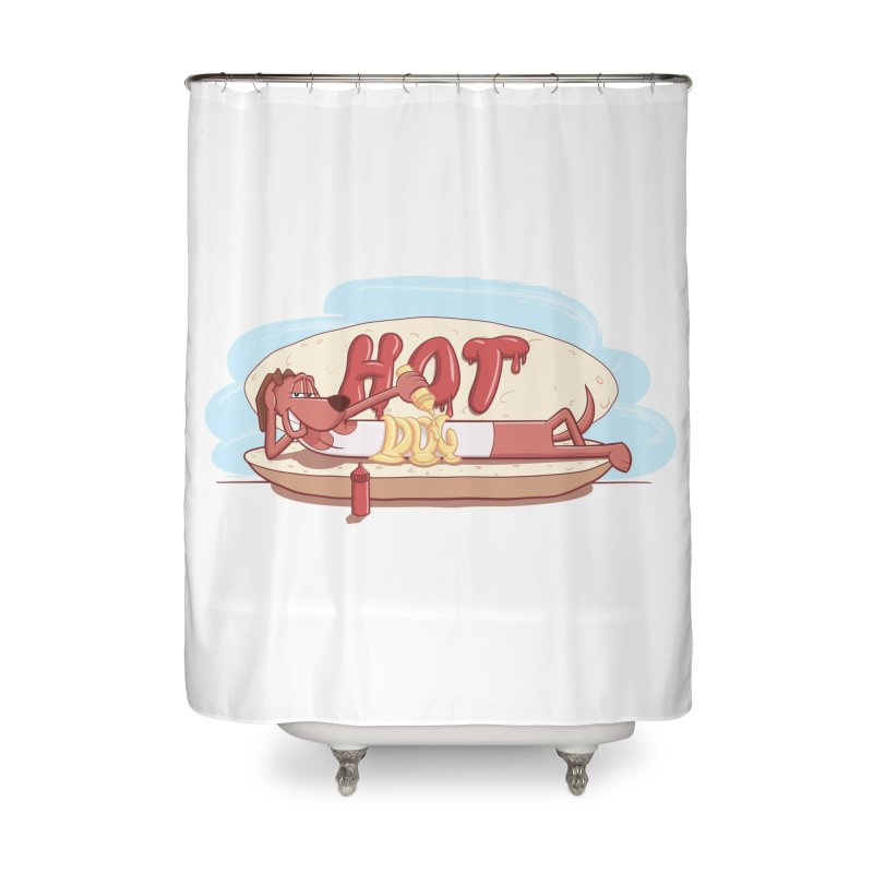HOT-DOG Home Shower Curtain by YiannZ's Artist Shop