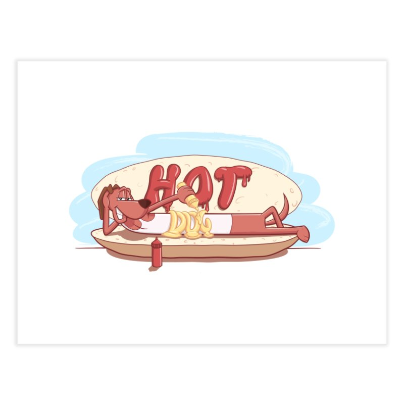 HOT-DOG Home Fine Art Print by YiannZ's Artist Shop