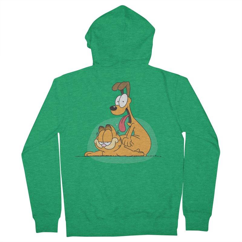 Garfield in CAT-DOG Men's Zip-Up Hoody by YiannZ's Artist Shop