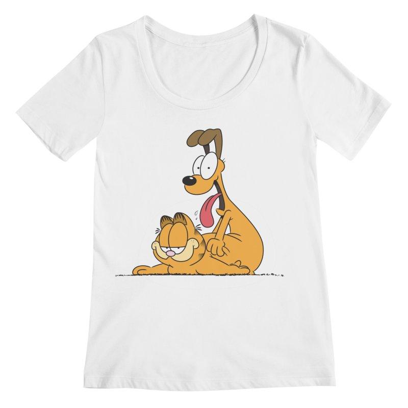 Garfield in CAT-DOG Women's Regular Scoop Neck by YiannZ's Artist Shop