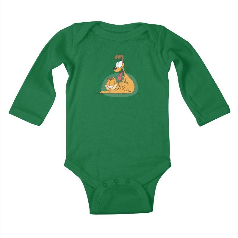 Garfield in CAT-DOG Kids Baby Longsleeve Bodysuit by YiannZ's Artist Shop