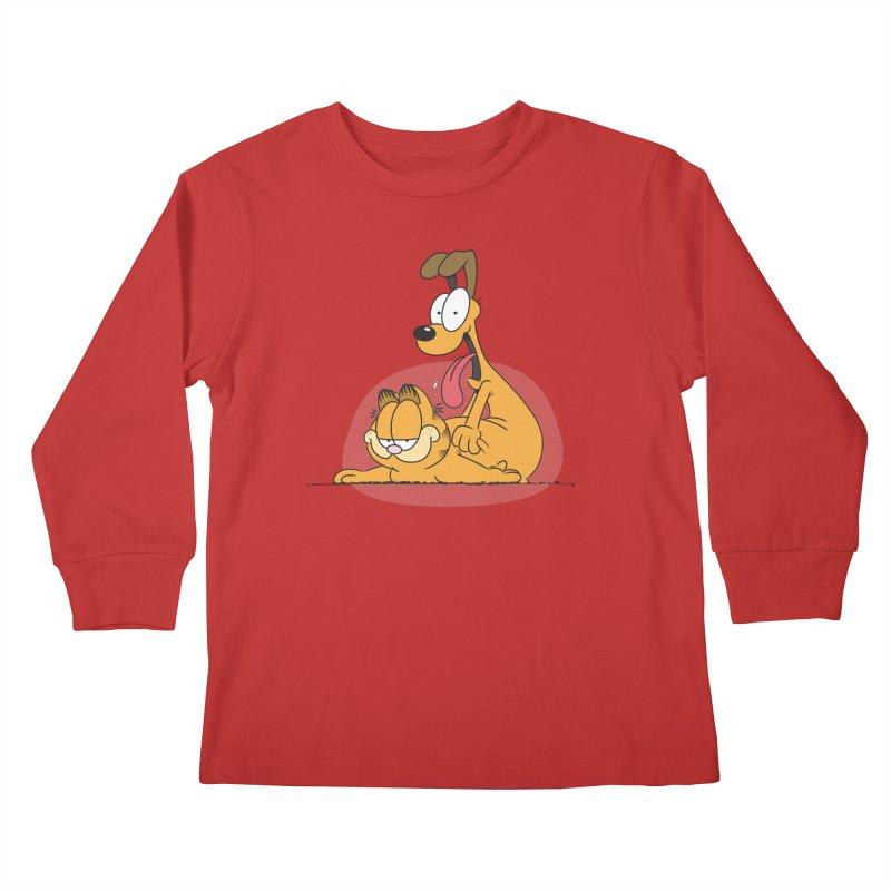 Garfield in CAT-DOG Kids Longsleeve T-Shirt by YiannZ's Artist Shop