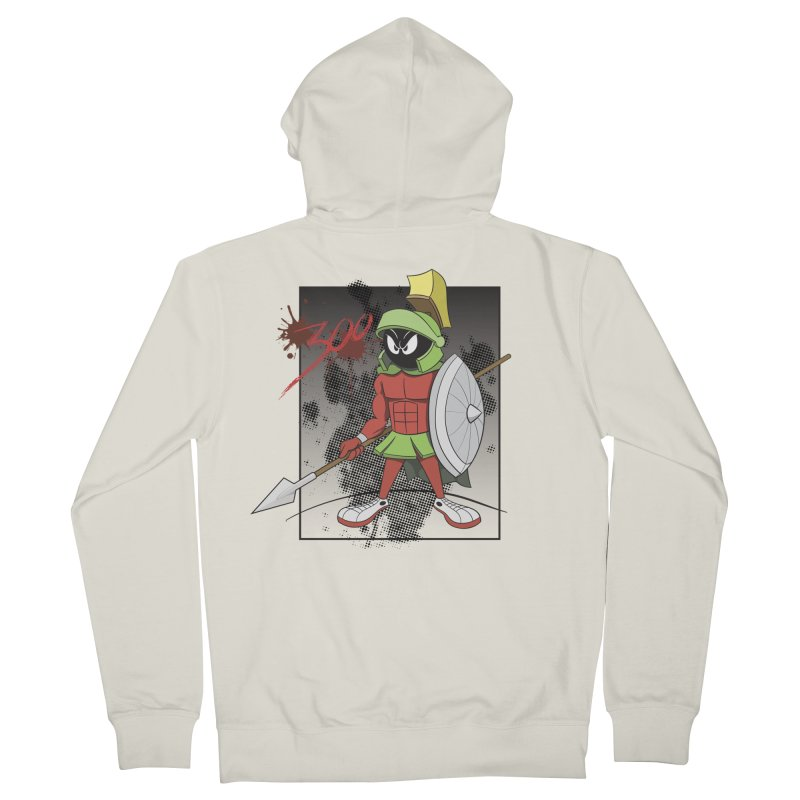 Marvin the Spartan Women's French Terry Zip-Up Hoody by YiannZ's Artist Shop