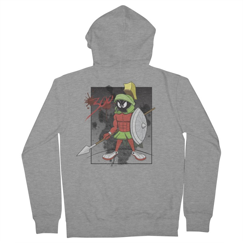 Marvin the Spartan Men's French Terry Zip-Up Hoody by YiannZ's Artist Shop