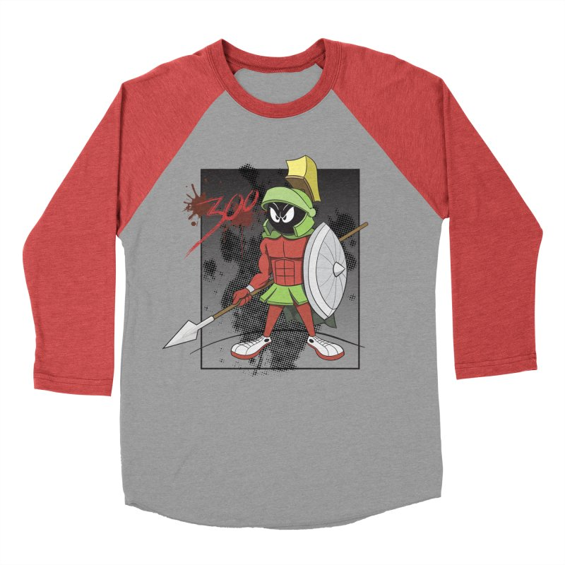 Marvin the Spartan Women's Baseball Triblend Longsleeve T-Shirt by YiannZ's Artist Shop