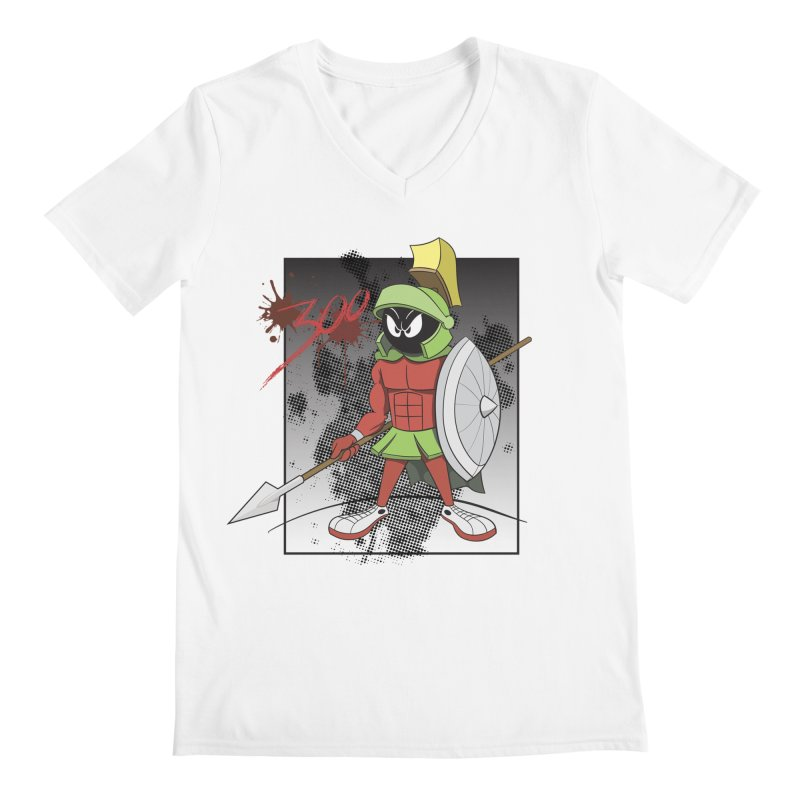 Marvin the Spartan Men's V-Neck by YiannZ's Artist Shop