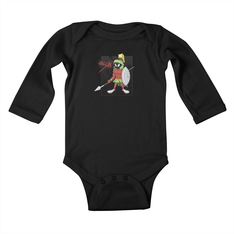 Marvin the Spartan Kids Baby Longsleeve Bodysuit by YiannZ's Artist Shop