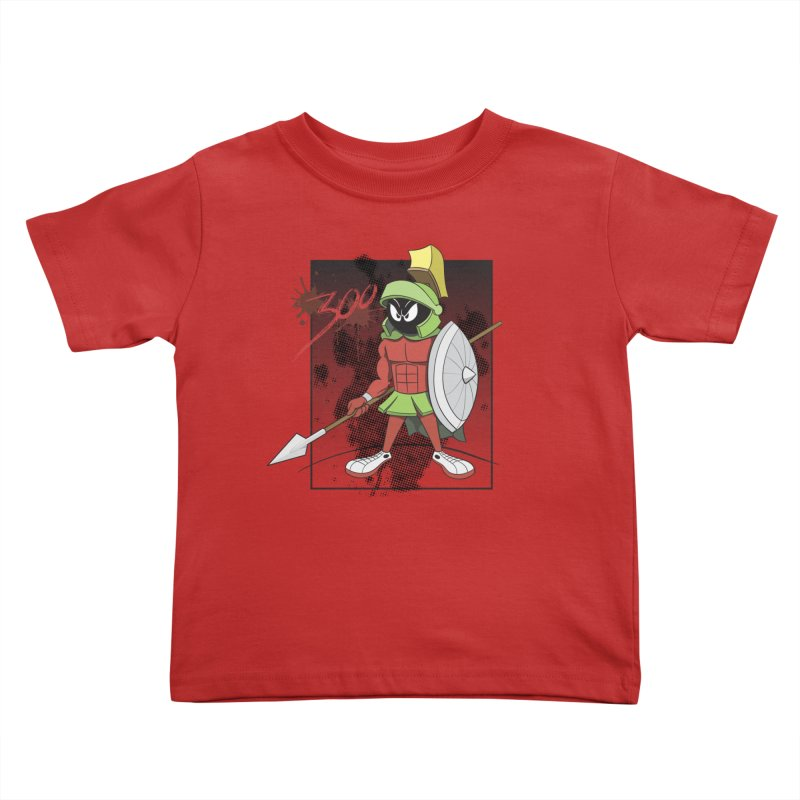 Marvin the Spartan Kids Toddler T-Shirt by YiannZ's Artist Shop