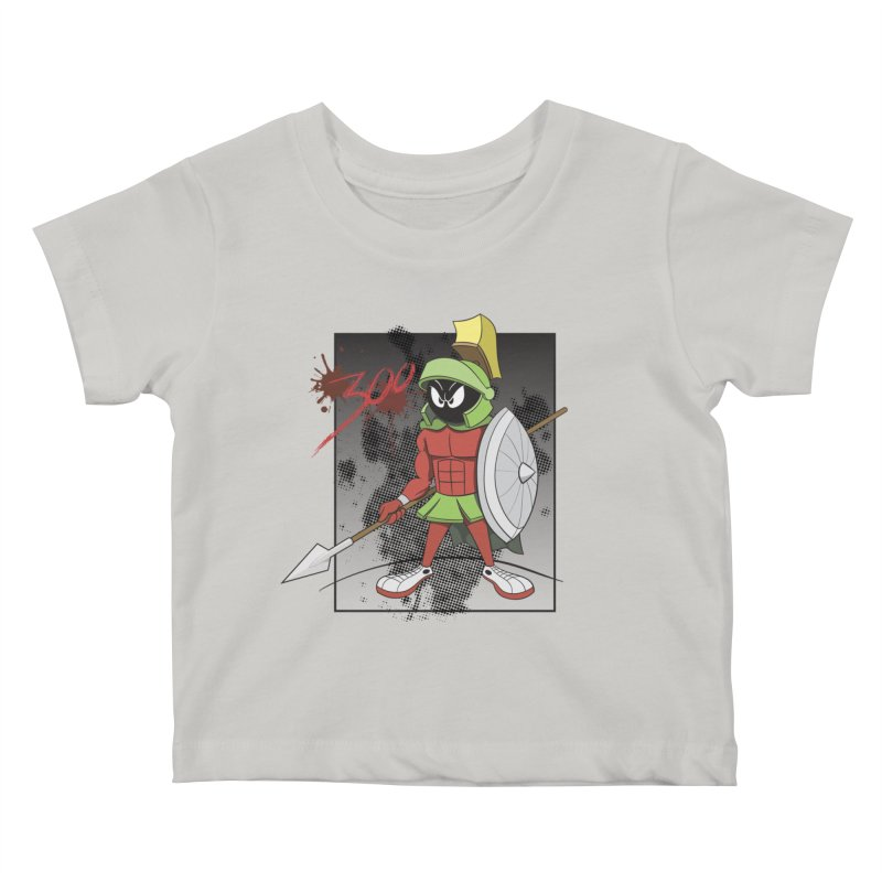 Marvin the Spartan Kids Baby T-Shirt by YiannZ's Artist Shop